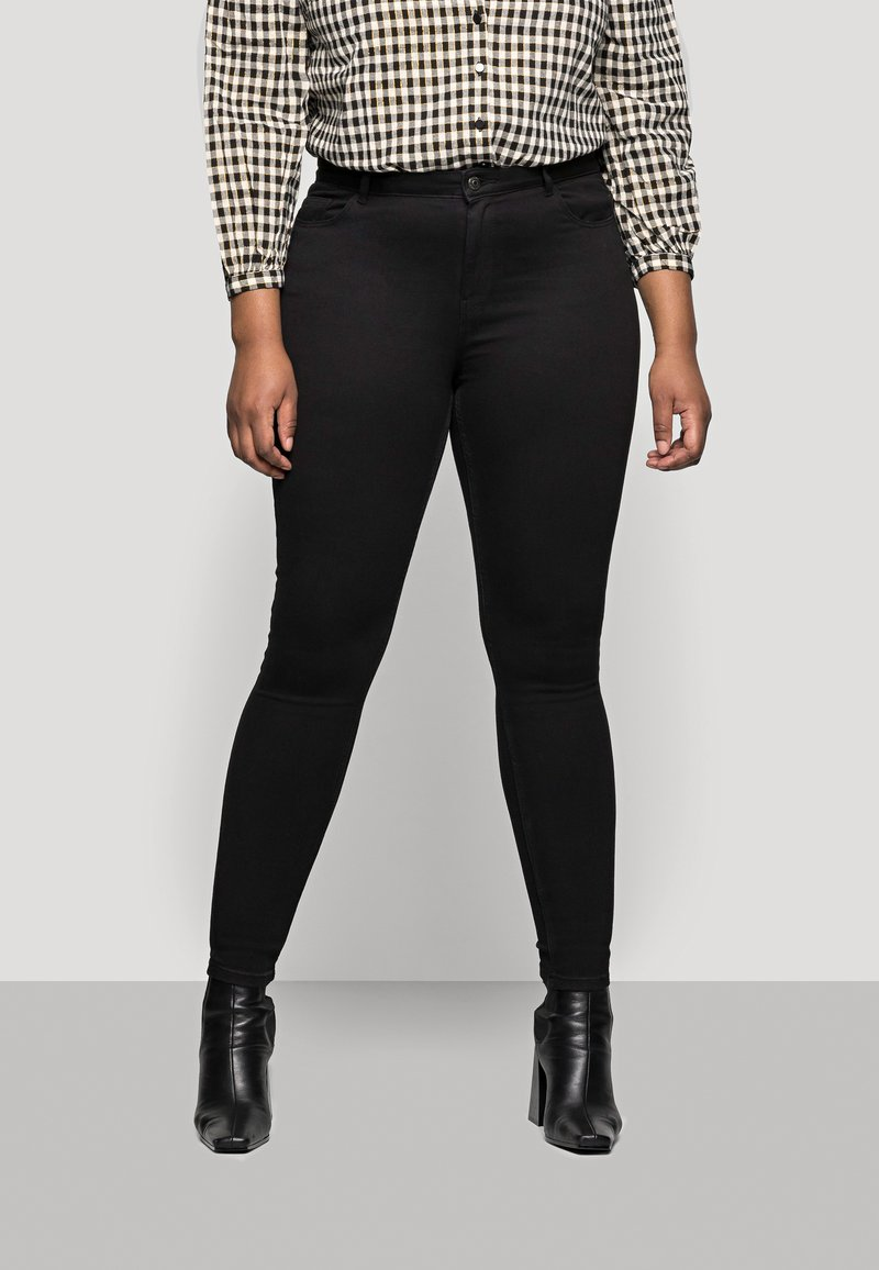 Pieces Curve - PCHIGHFIVE FLEX - Jeans Skinny Fit - black