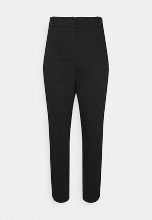 SATEEN CIGARETTE PANT - Trousers - black