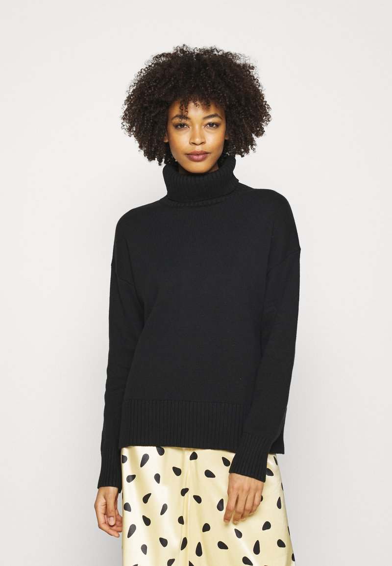 GAP - CROP OVERSIZED TNECK - Jumper - true black