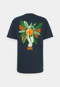 Obey Clothing - MOTHER NATURE ON THE RUN - Printtipaita - navy - 1