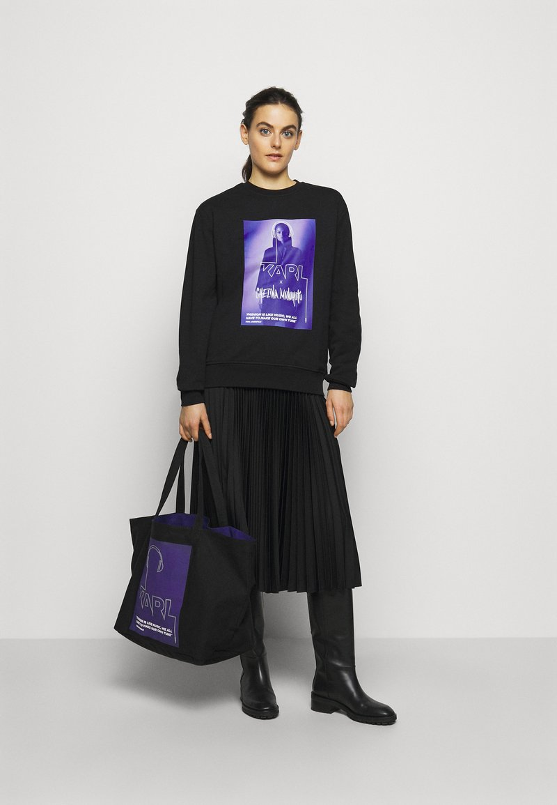 KARL LAGERFELD - VOICES MUSIC SHOPPER - Tote bag - purple