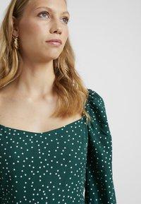 Missguided Tall - MILKMAID SKATER DRESS POLKA - Day dress - green - 4