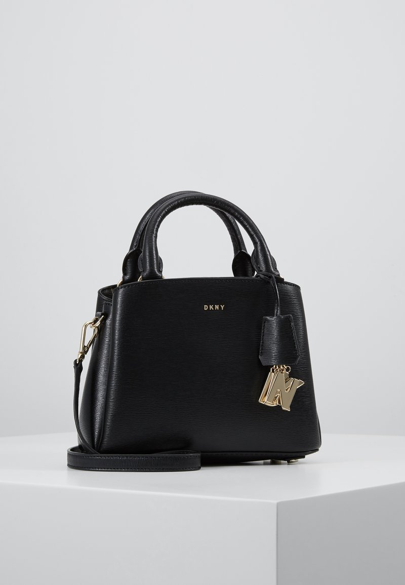 DKNY - SATCHEL - Handbag - black/gold