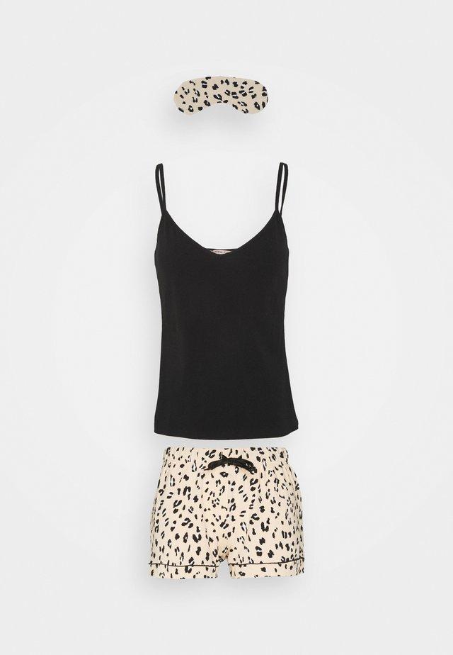 Pyjama - black/nude