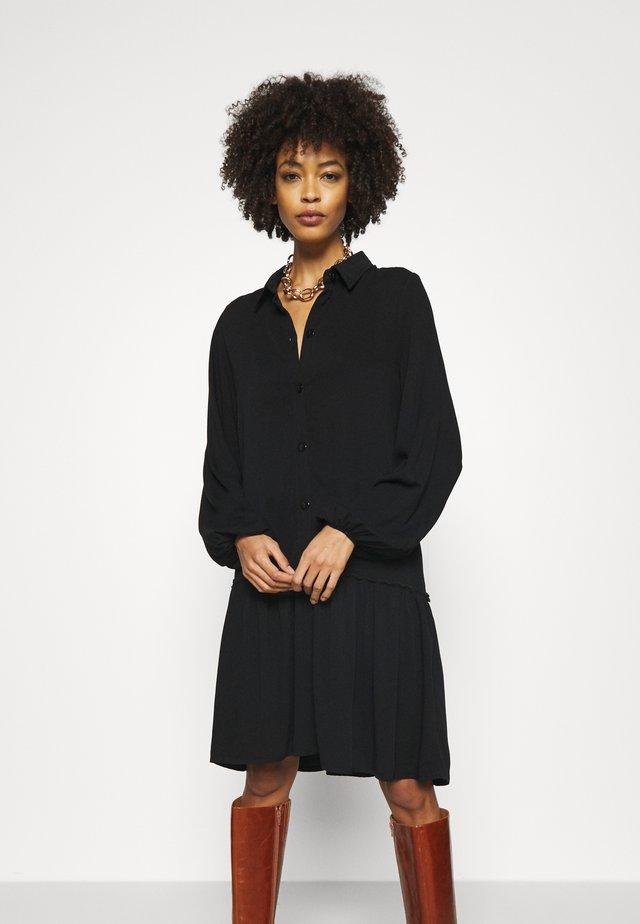 Oversized - Shirt dress - black