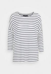Vero Moda - VMBRIANNA - Neule - snow white/navy blazer - 4
