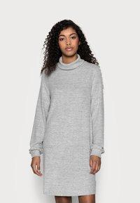 GAP Petite - TURTLENECK DRESS - Sukienka dzianinowa - light grey marle - 0