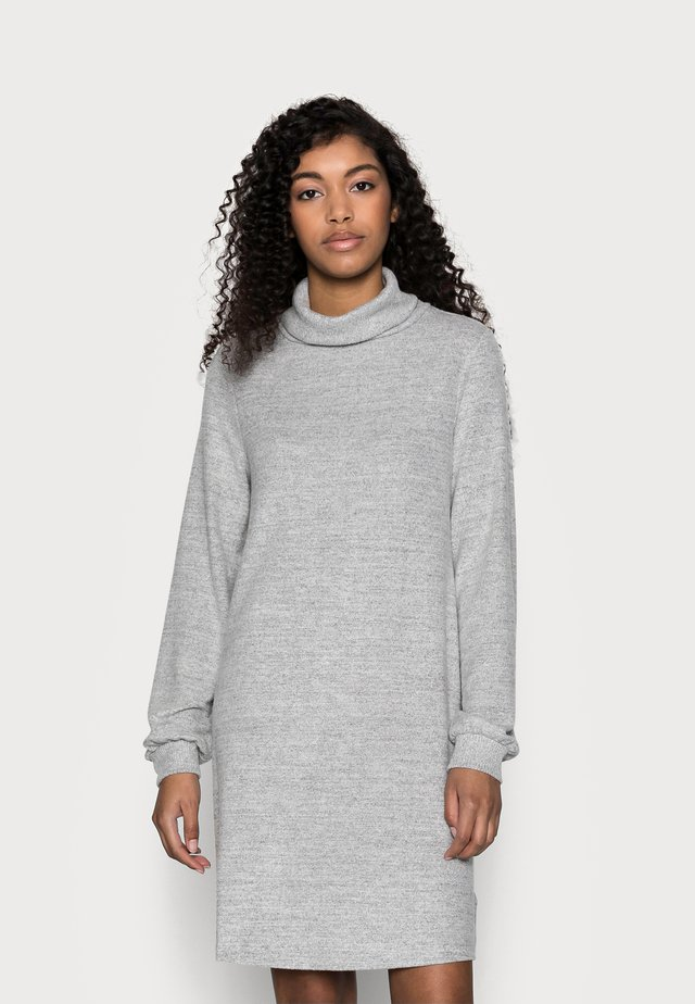 TURTLENECK DRESS - Gebreide jurk - light grey marle