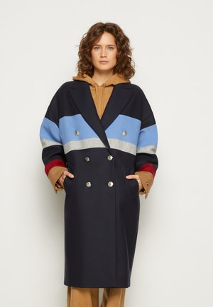 BLEND STRIPE MAXI COAT - Klasický kabát - desert sky colorblock