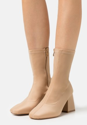 WIDE FIT ASHLEY - Classic ankle boots - nude