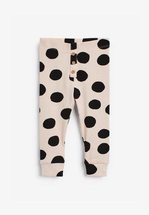 Leggings - Trousers - beige  black