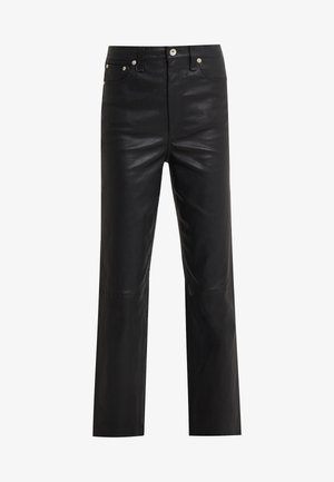 JANE TROUSER - Leather trousers - black