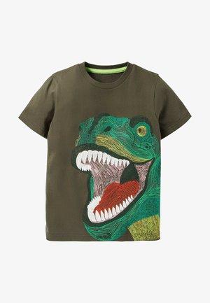 Print T-shirt - khaki, dino