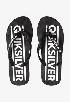 JAVA WORDMARK  - T-bar sandals - black/black/white