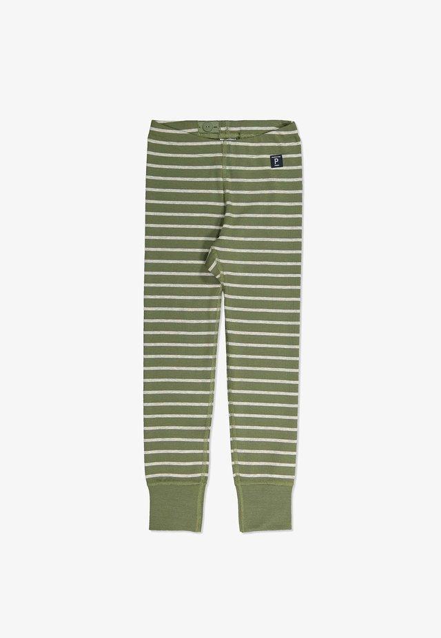 STRIPE  - Trousers - olivine