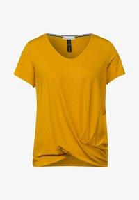 Street One - KNOTEN DETAIL - Print T-shirt - gelb - 3