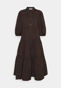 Tory Burch - ARTIST BUTTON FRONT DRESS - Shirt dress - deep chocolate - 0