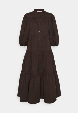ARTIST BUTTON FRONT DRESS - Shirt dress - deep chocolate