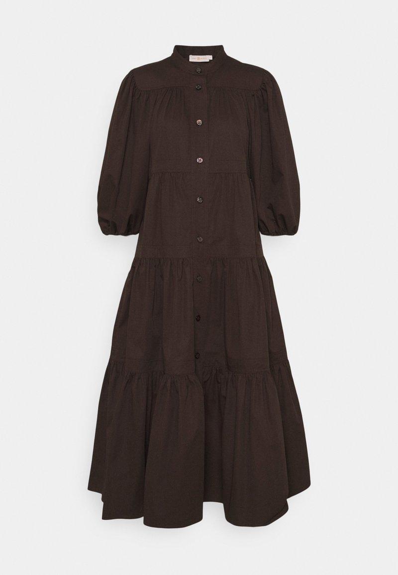 Tory Burch - ARTIST BUTTON FRONT DRESS - Shirt dress - deep chocolate