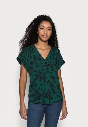 Blouse - blue/green