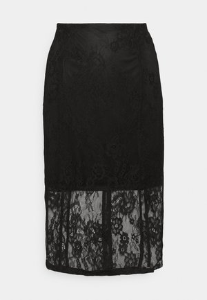 BODYCON MIDI SKIRT - Pencil skirt - black