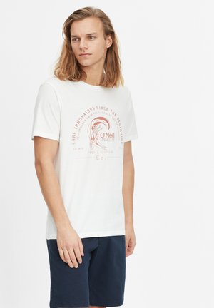 T-shirt med print - powder white