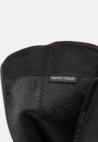 Marco Tozzi - Vysoká obuv - black antic - 5