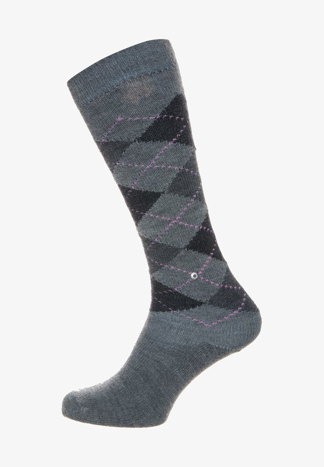 WHITBY - Knee high socks - grey