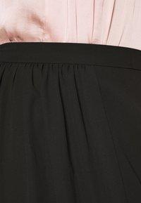 Adrianna Papell - SHIRRED SIDE SLIT SKIRT - Maxi skirt - black - 5