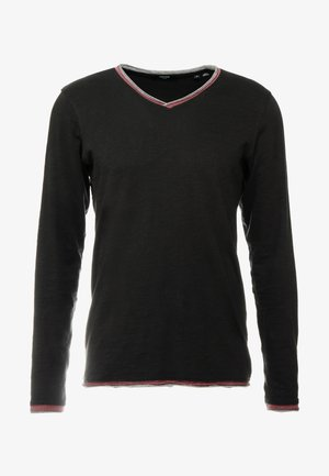 JPRIAEN BLA TEE NECK - Långärmad tröja - black