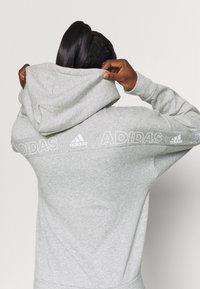 adidas Performance - Zip-up hoodie - mottled grey/white - 4