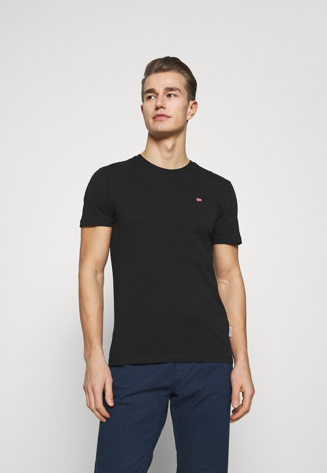 SALIS - Basic T-shirt - black
