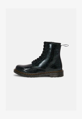1460 Y - Lace-up ankle boots - green cosmic glitter