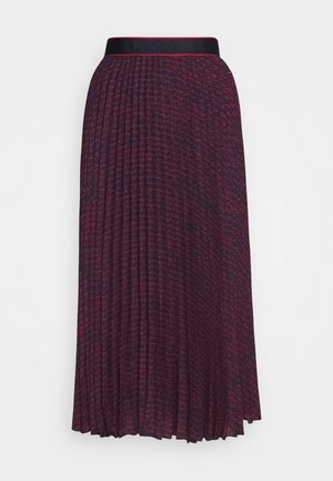 BALI PLEATED MIDI SKIRT - A-line skirt - night sky/red