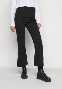 Even&Odd Tall - FLARED PUNTO PANTS - Leggings - Trousers - black - 2