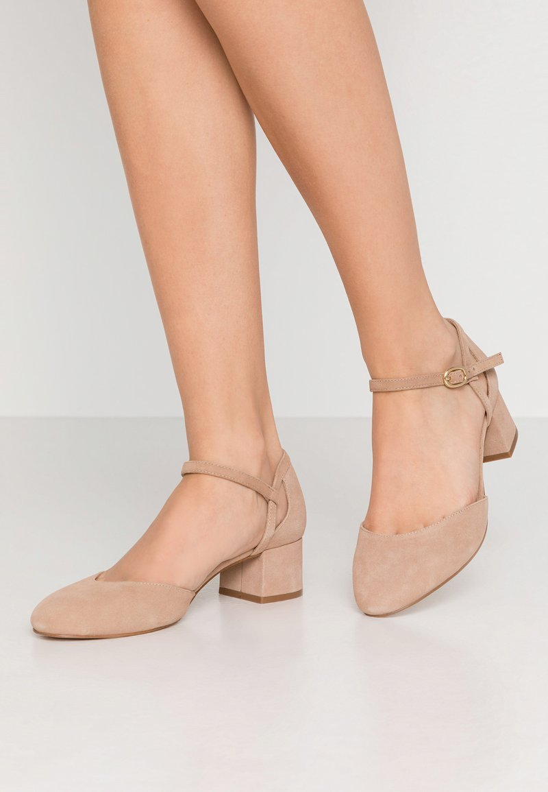 Anna Field Wide Fit - LEATHER - Klassiske pumps - nude