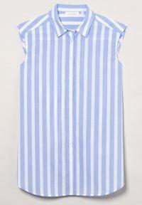 Eterna - MODERN CLASSIC - Button-down blouse - hellblau/weiß - 4