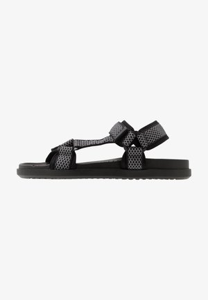 TAKASHI - Chodecké sandály - black/white