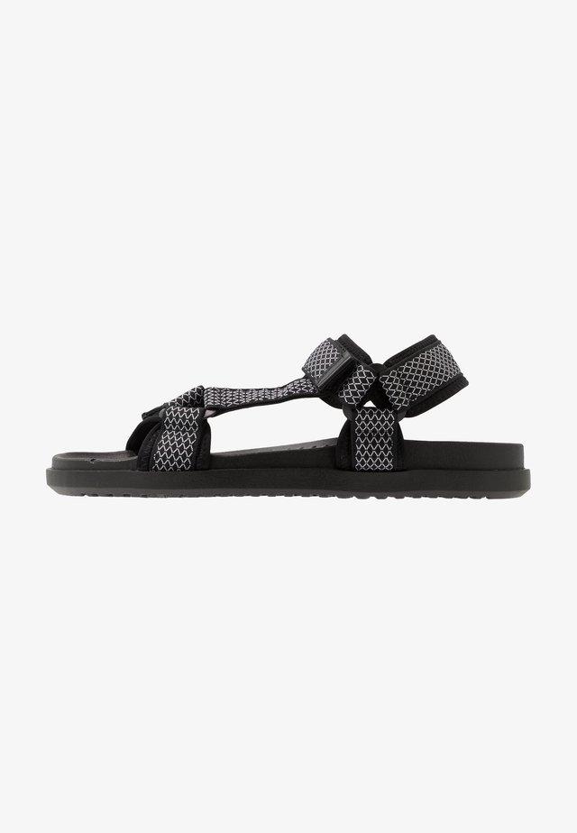 TAKASHI - Walking sandals - black/white