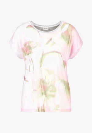 Print T-shirt - weiß azalea palm druck