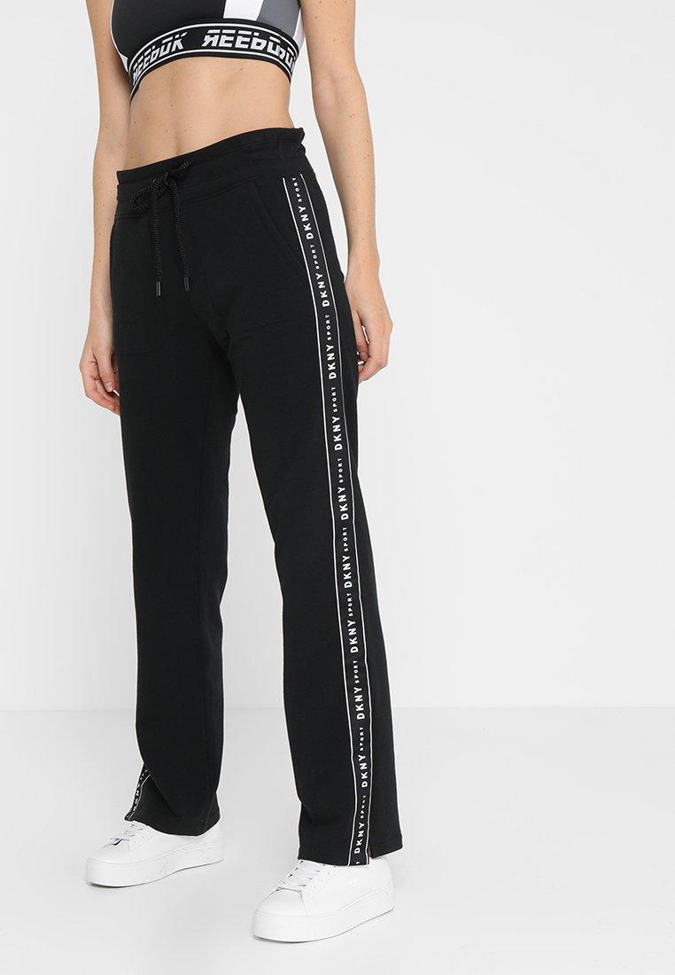 DKNY - TRACK PANT W/SIDE SLIT - Tracksuit bottoms - black