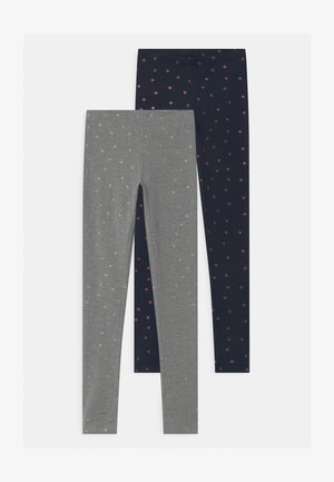 NKFVIVIAN GLITTER 2 PACK - Leggings - Trousers - dark sapp/grey
