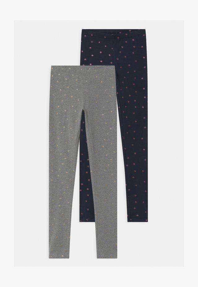 NKFVIVIAN GLITTER 2 PACK - Leggings - dark sapp/grey