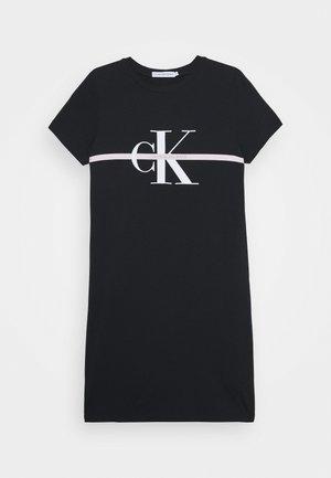 MONOGRAM STRIPE - T-shirt con stampa - black