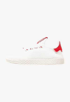 PW TENNIS HU - Tenisky - footwear white/scarlet/calk white