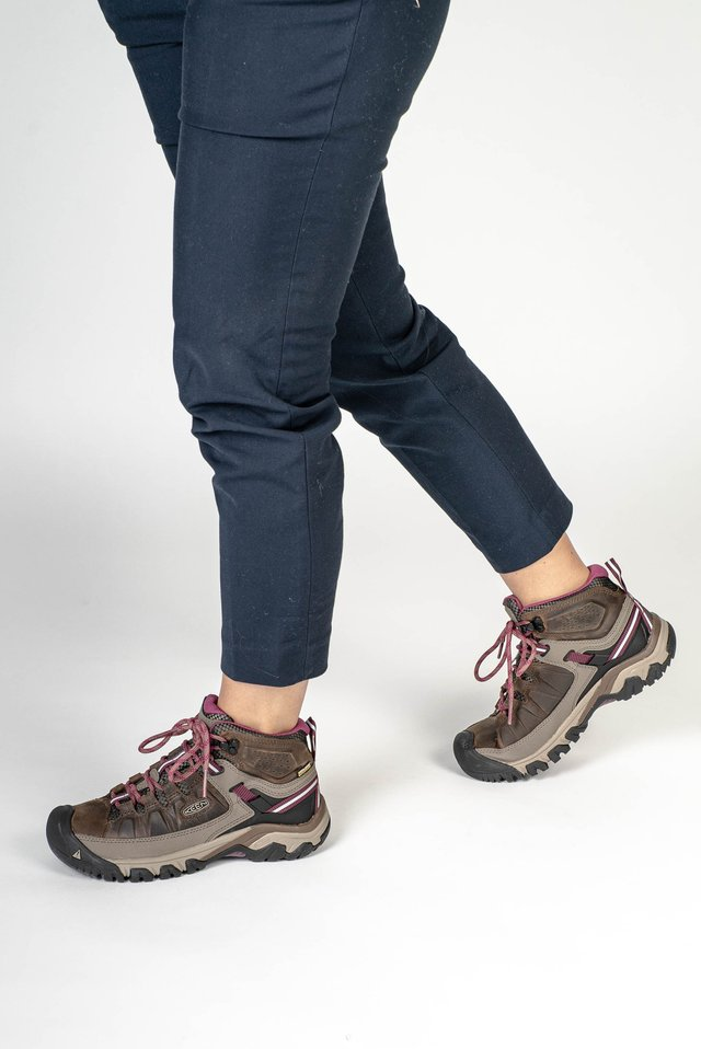 TARGHEE III MID WP - Mountain shoes - white/boysenberry