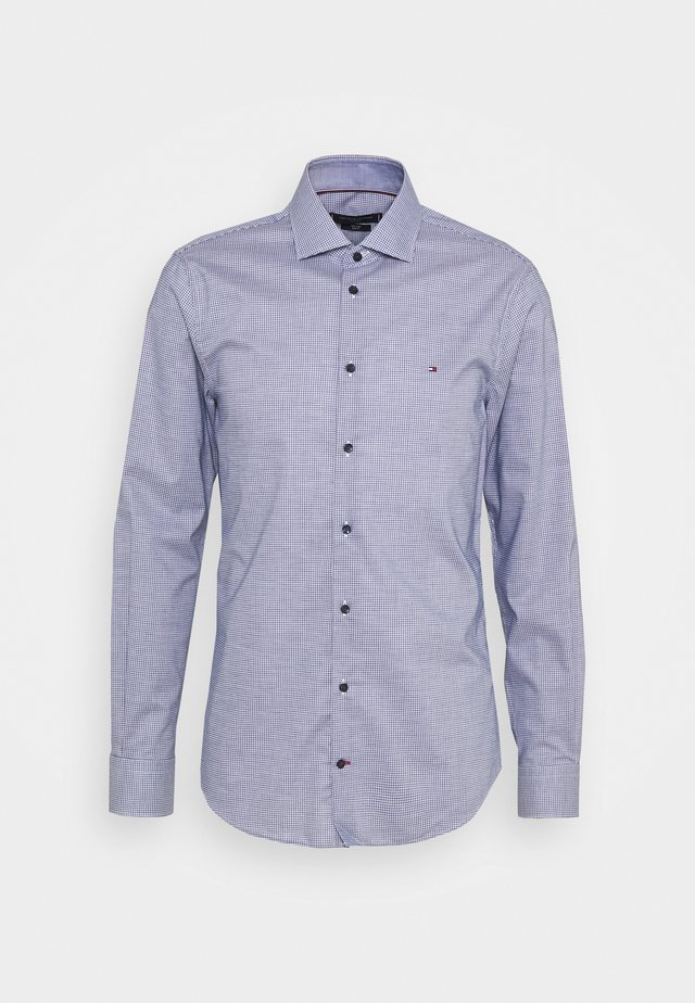 MINI CHECK SLIM FIT - Shirt - navy/white