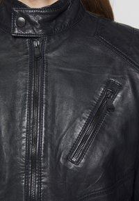 JOOP! Jeans - LIMA - Kožená bunda - dark navy - 5
