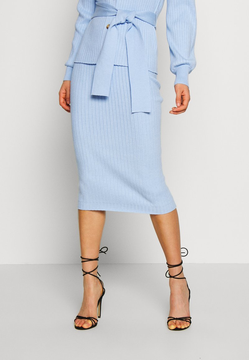 Glamorous - MIDI SKIRT - Kokerrok - light blue