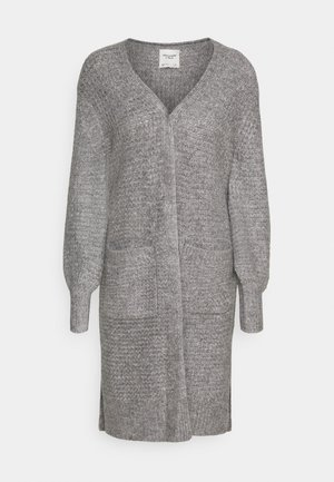 WAFFLE CORE CARDI - Kardigan - grey heather
